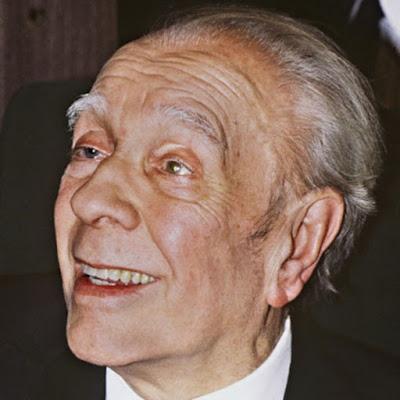 JLB - Retrato de Jorge Luis Borges en L'Aleph, Gallimard, L'Imaginaire