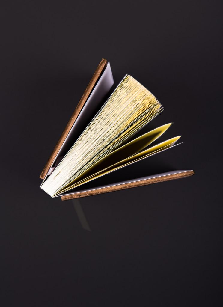 Vista central del plegado de las páginas
