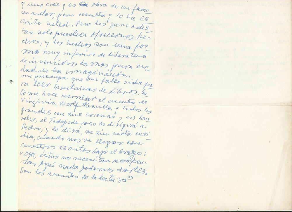 «…me falta vida para leer montañas de libros». Archivo familiar.