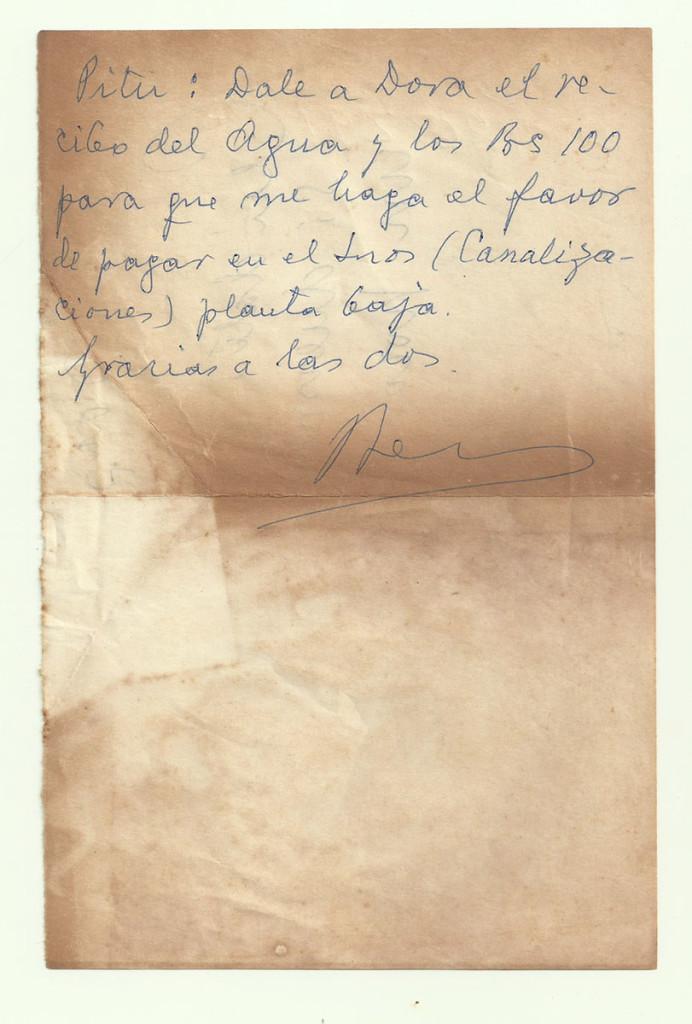 «Gracias a las dos». Archivo familiar.