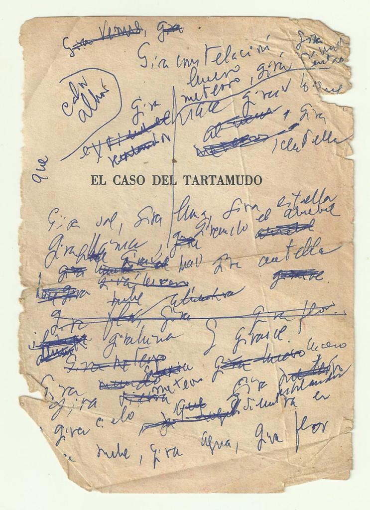 «El caso del tartamudo». Archivo familiar.
