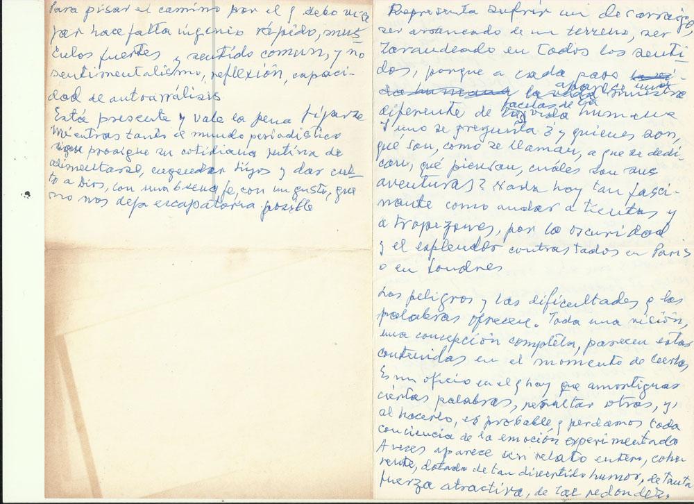 «Los peligros, las dificultades que las palabras ofrecen». Archivo familiar.