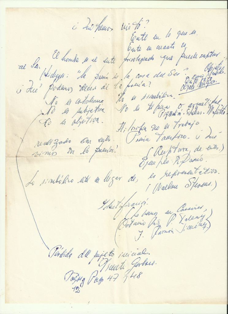«Heidegger». Archivo familiar.