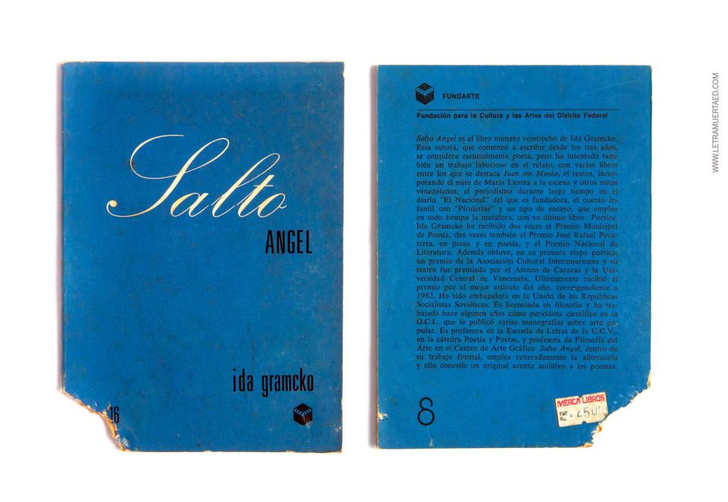 «Salto Ángel». Caracas, Fundarte, 1985. 1a edic. Portada: Toña Vegas.
