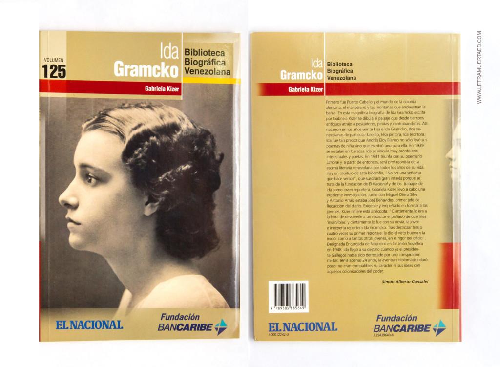 Gabriela Kizer. «Ida Gramcko». Caracas, Colección Biblioteca Biográfica de El Nacional y Banco del Caribe, Nº125, 2011.