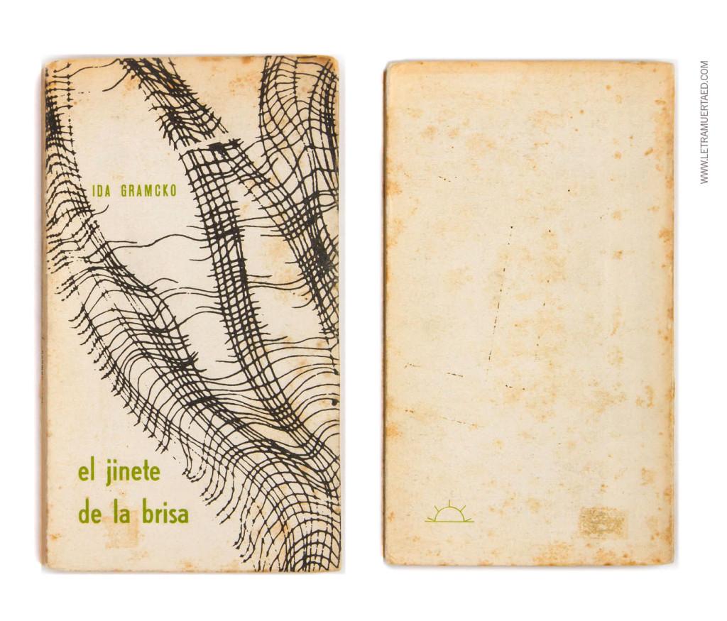«El jinete de la brisa». Caracas, Arte, 1967. 1a edic. Diseño: John Lange.