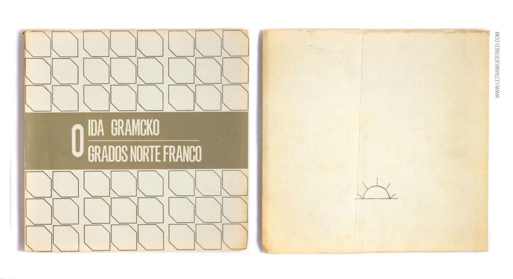 «0 grados norte franco». Caracas, Publicaciones del Banco Industrial de Venezuela, 1969. 1a edic. Portada y diagramación: Mateo Manaure. Fotografías: Fina Gómez.