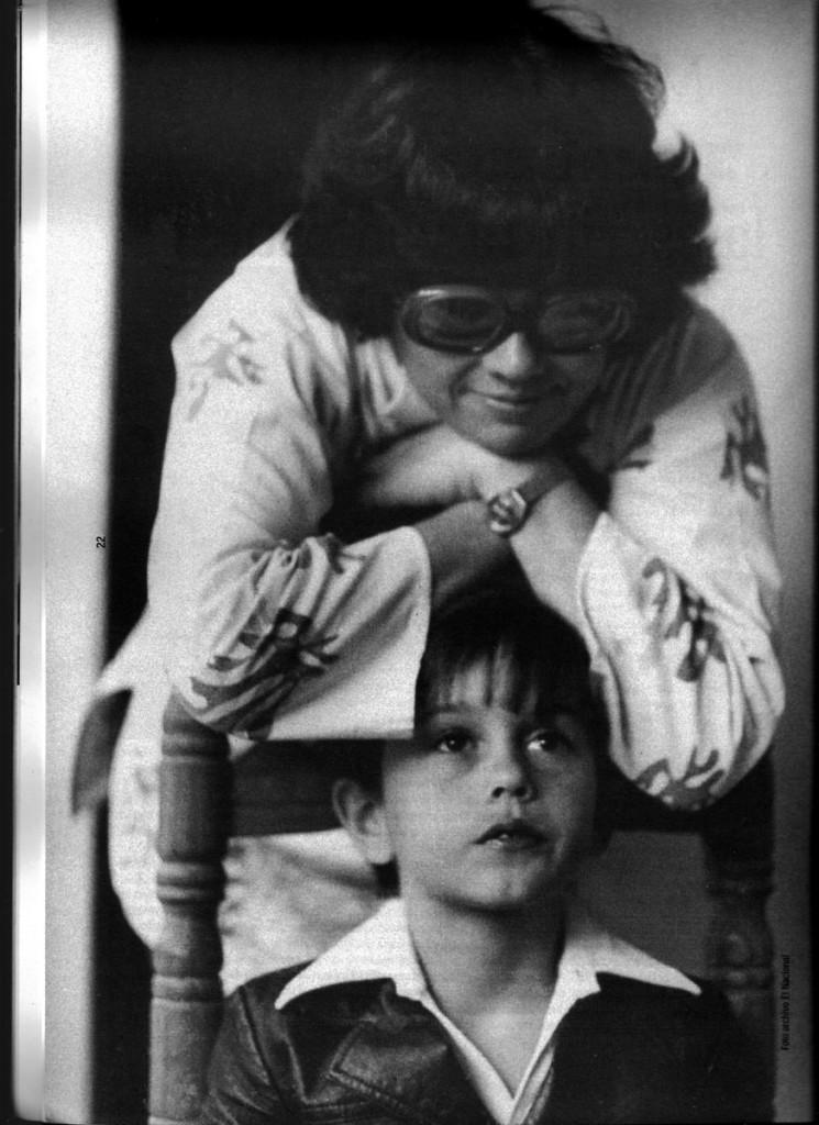 Con su hijo. Archivo El Nacional.