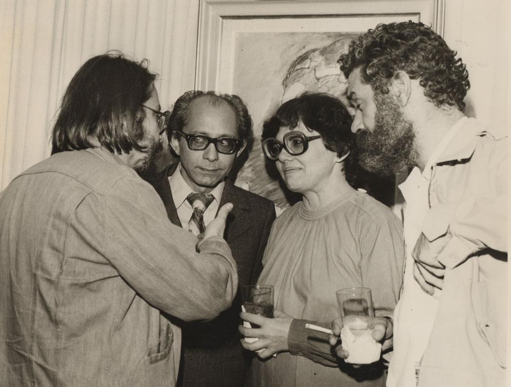 En celebración del grupo La República del Este, con Luis García Morales y Pancho Massiani.  Archivo familiar.