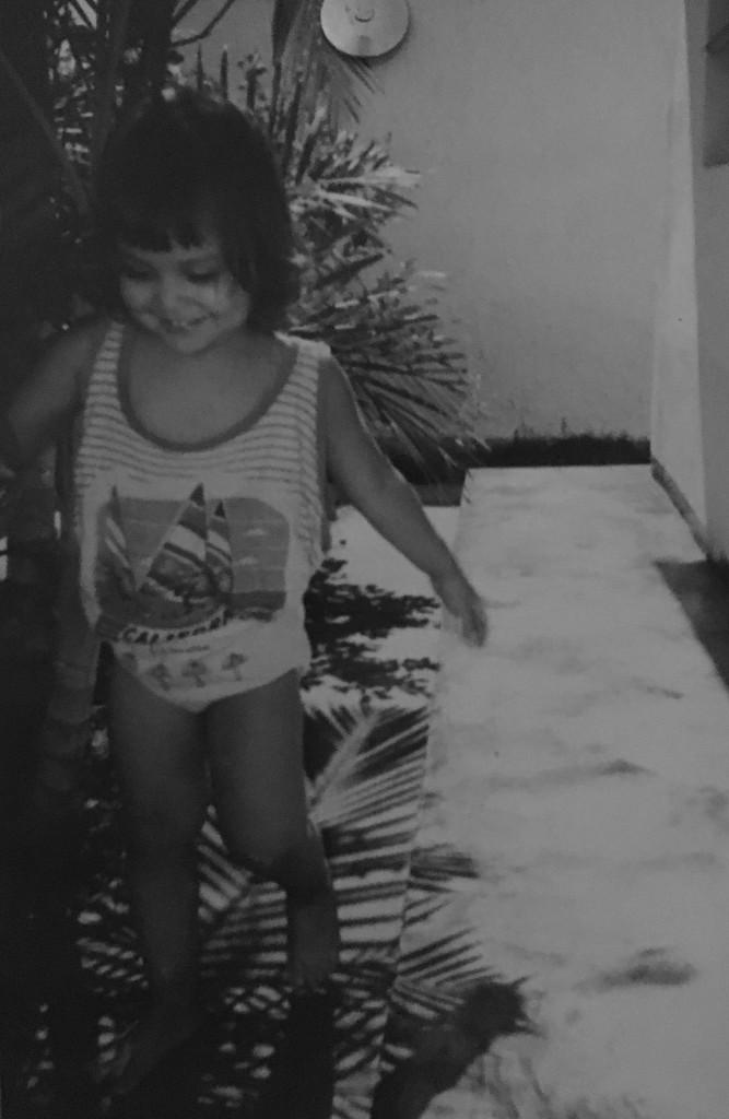 Diosce Martínez a sus tres años.
